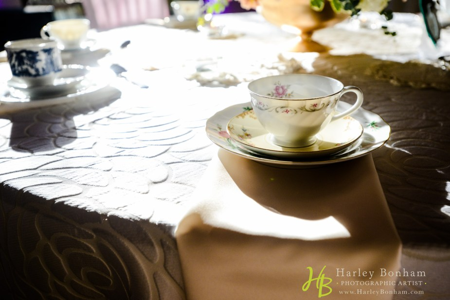 vintage teacup in a tea party