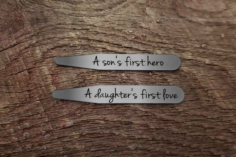 Father's Day Collar Stays Gift with Text Gift