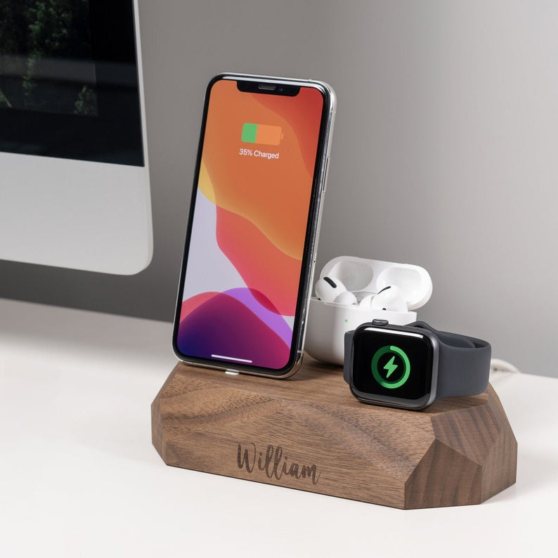 Father's Day Wooden Customized Docking Station Gift
