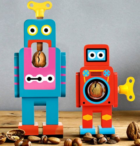 Wooden-robot-nutcrackers