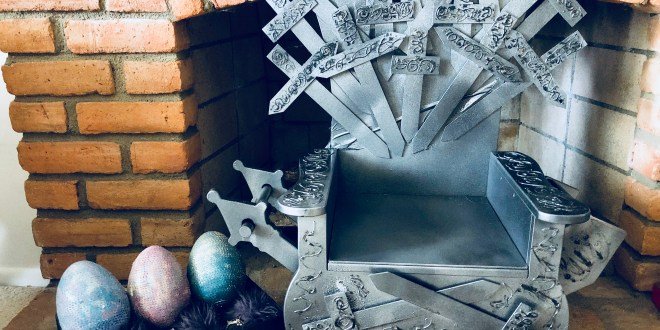 Game of Thrones DIY Iron Throne for a Kitty !