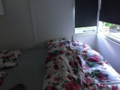 The bedroom. Cozy.