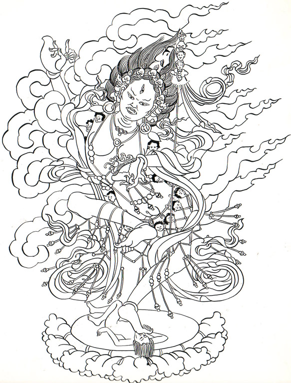 Homage to the Primordial Wisdom Dakini