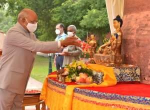 Prime minister Modi and President Kovind take Asadha Poornima 2021 Online
