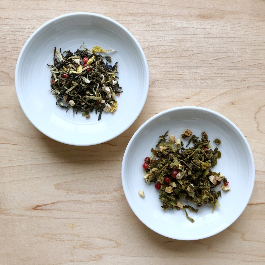 Teabox Green Potpourri Green Tea Dishes
