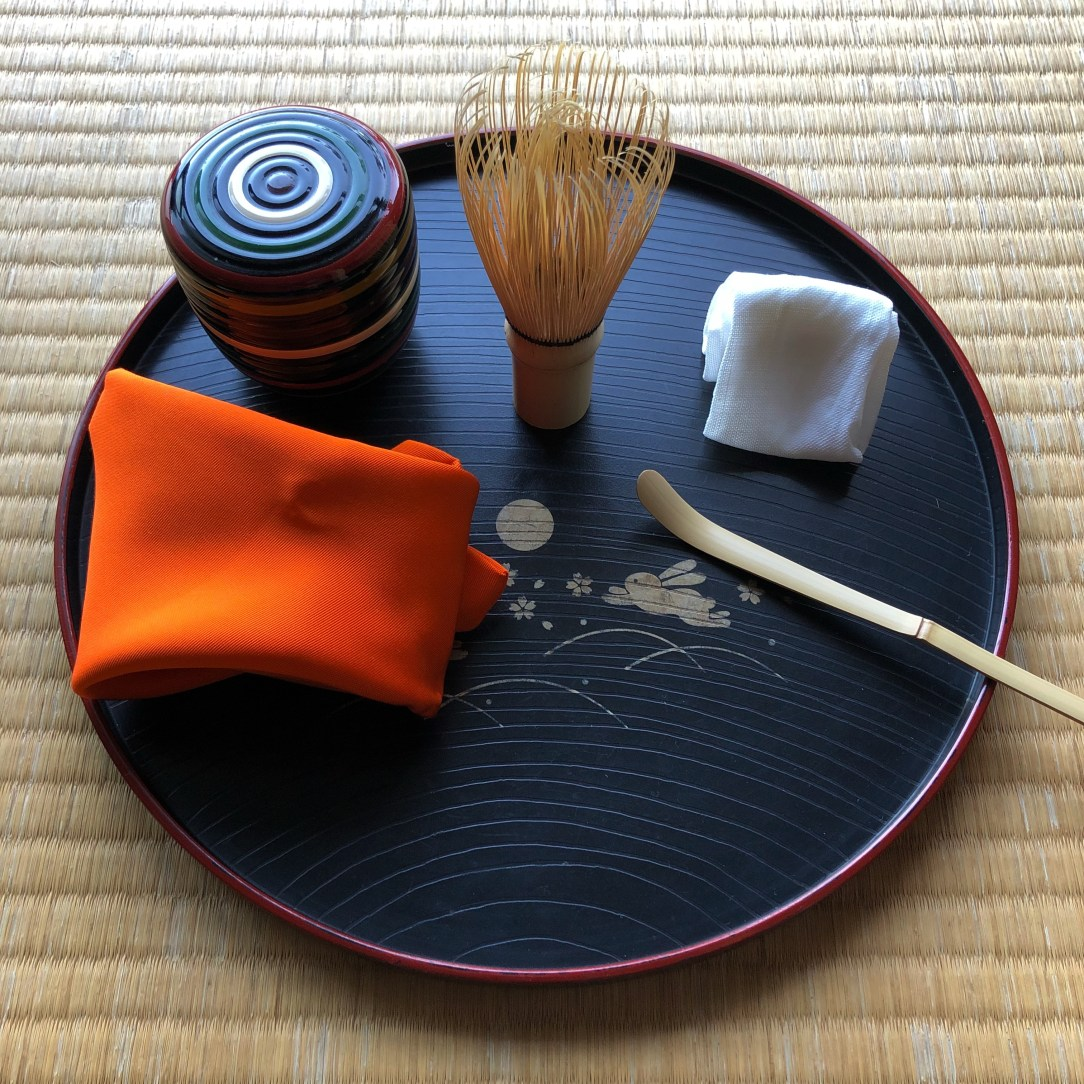 Matcha Utensils Fukusa and Chashaku