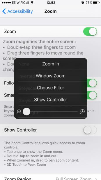 iphone turn down brightness settings