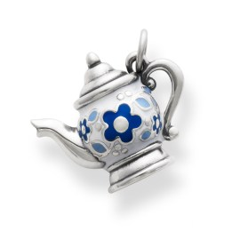 CM-3129-EN CM-3129-SS---MULTI-ENM---- Enamel Teapot Charm