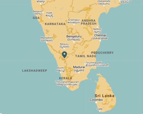 Map of region