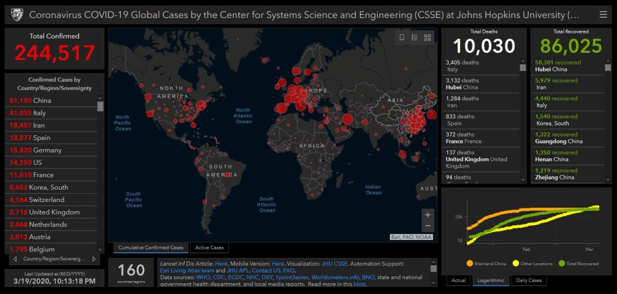 Coronavirus Interactive Map