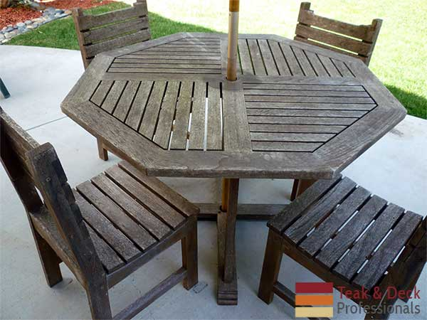 teak outdoor furniture restoration