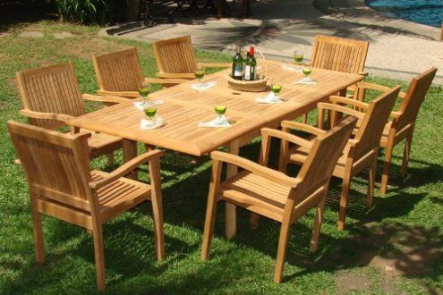 Buying Tips for Choosing the Best Teak Patio Furniture   Teak Patio     9 piece teak dining set