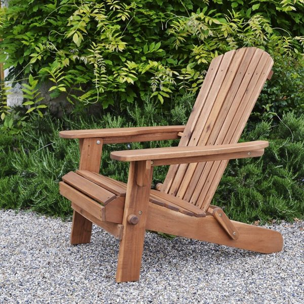 Best Acacia Wood Outdoor Furniture for 2018   Teak Patio Furniture World Plant Theatre Folding Acacia Wood Adirondack Chair