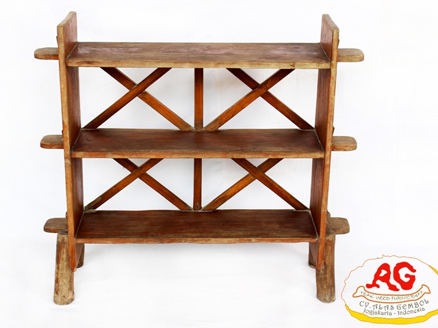 teak root display rack