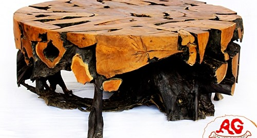 Round Teak root coffee table