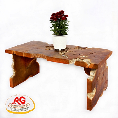 Teak Root Coffee Table Whitewash