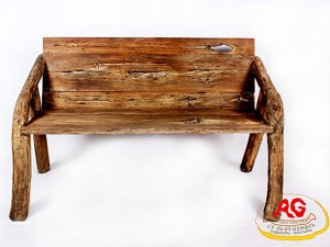 Erosion Teak Wood Bench L