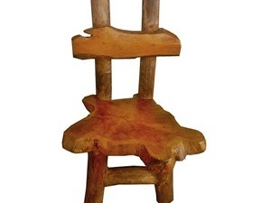 Irregular Teak Chair Natural Back