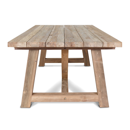 Reclaimed Teak Furniture Two, Reclaimed Outdoor Dining Table