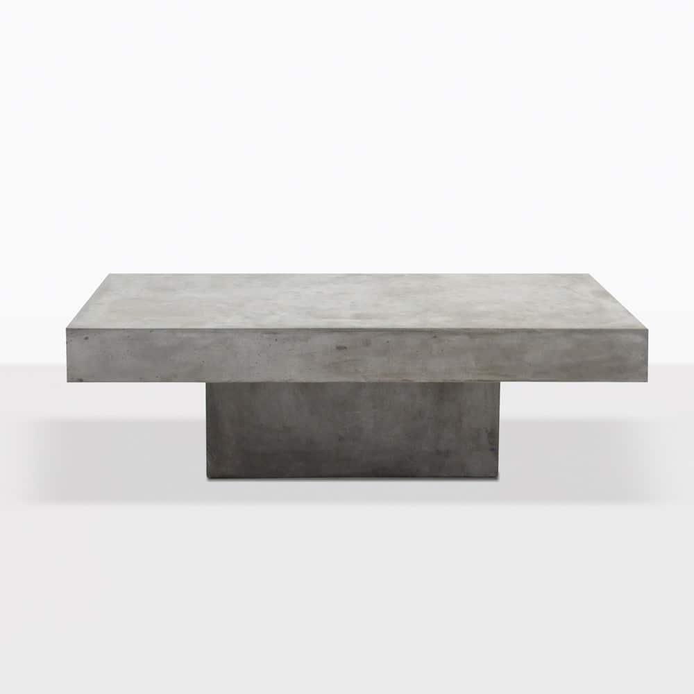 Blok Square Concrete Coffee Table Patio Furniture Teak