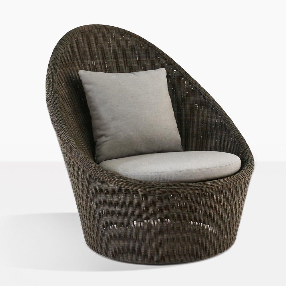 sunai high back wicker relaxing swivel chair
