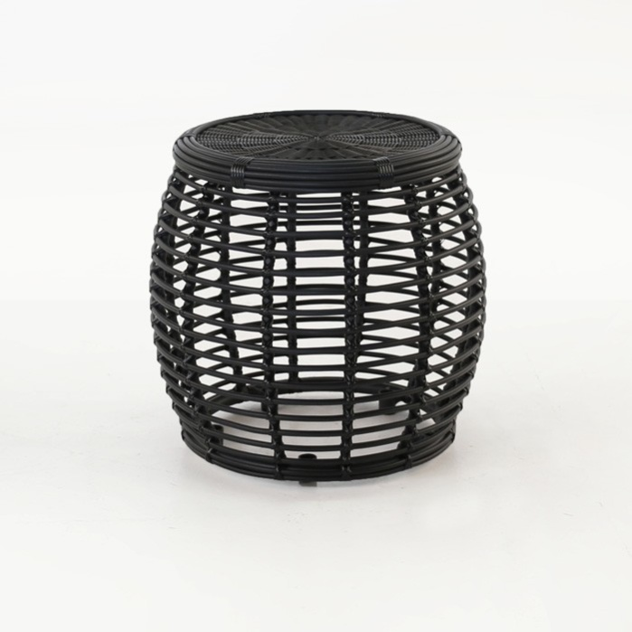kane drum accent table charcoal
