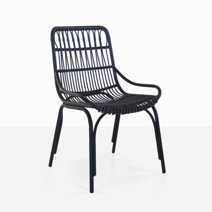 sydney outdoor wicker dining chair black