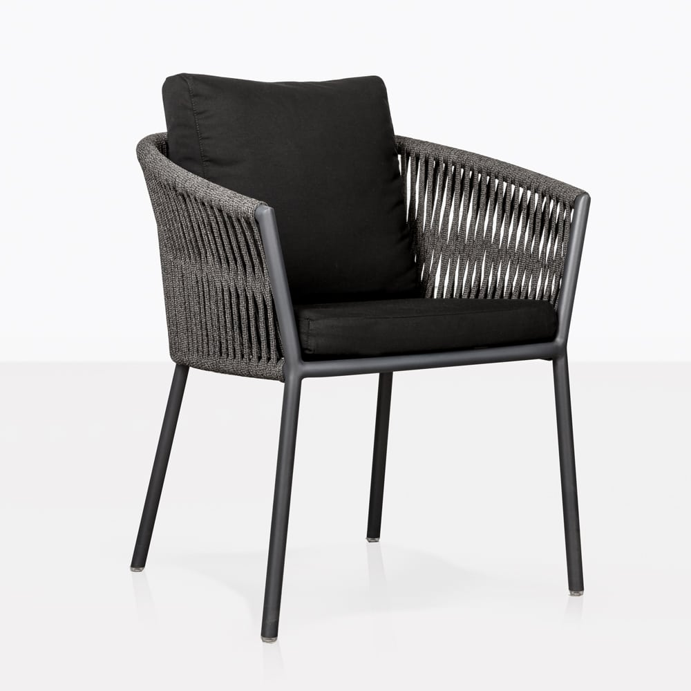 washington rope outdoor dining chair espresso