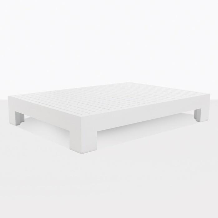 coast aluminum outdoor coffee table white