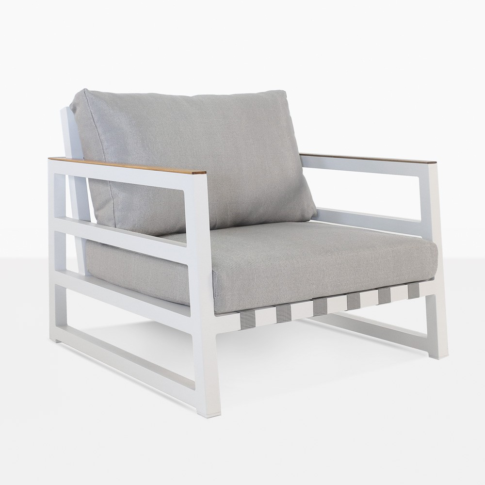 westside aluminum outdoor club chair white
