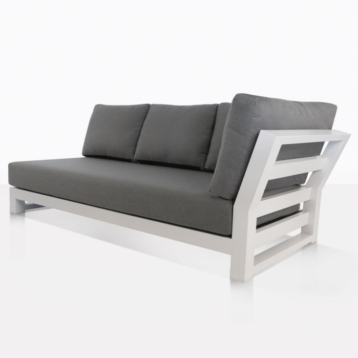south bay outdoor sectional left sofa white
