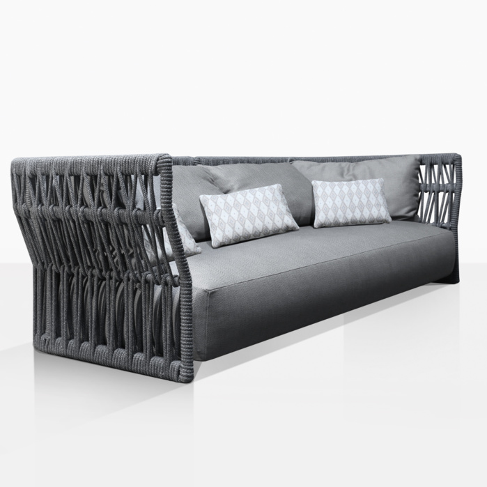 portofino outdoor aluminum sofa