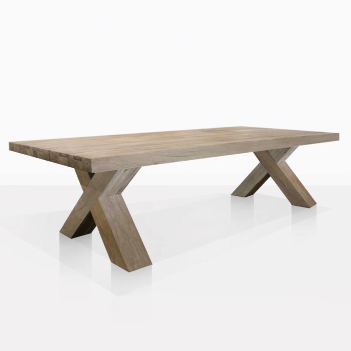 boxx reclaimed teak outdoor dining tables