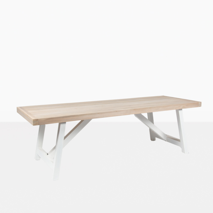 hobson outdoor reclaimed teak dining table stonewhite