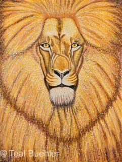 Lion - 22x30 on Cold Pressed Lanaquarelle Water Color Paper 300 lb