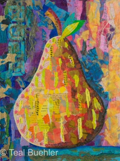 Pear - 12x16 on Canvas Board