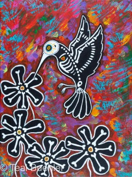 Day of the Dead Hummingbird
