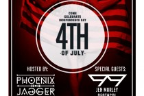 FREE EVENT!!!: Phoenix Jagger & Phriends | July 4th Edition | Monkey Bar Beachside |