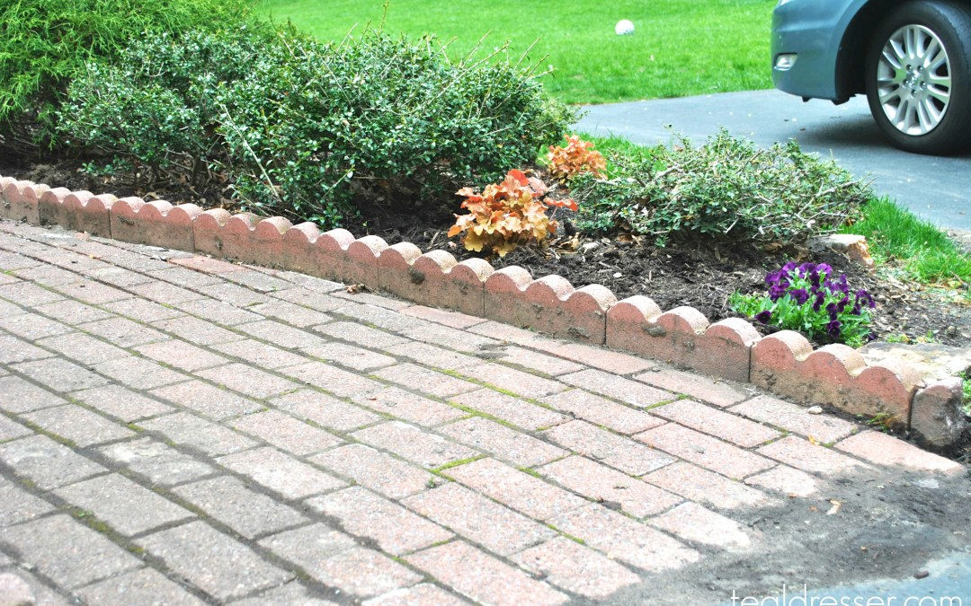 Resetting our Brick Edging