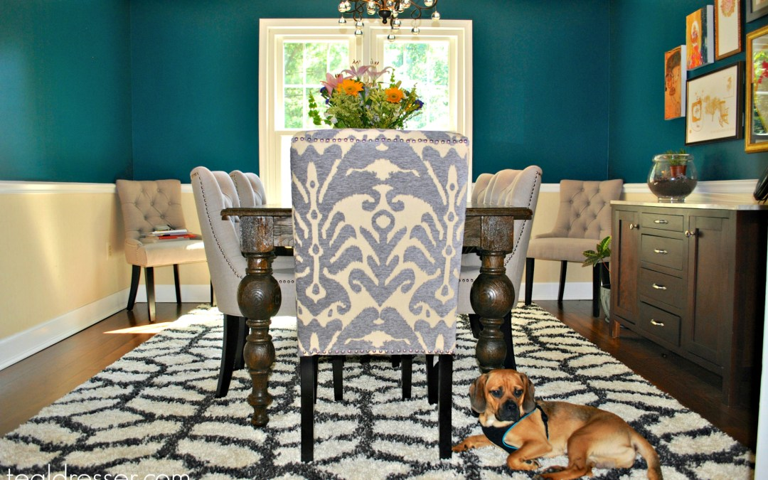 Statement Chairs in Dining Room