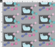 Cat design on fabric using Illustrator