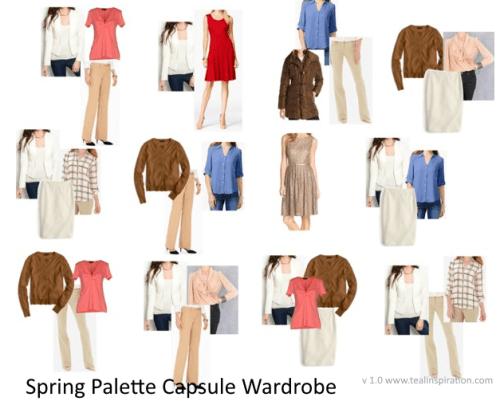 Spring Color Palette Wardrobe Capsule