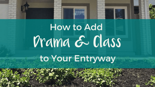 how to add drama and class to your entryway