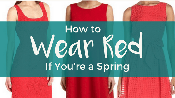 How to Wear Red if You're a Spring