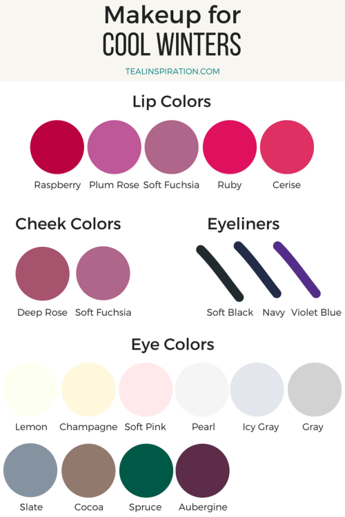 Cool Winter Makeup Colors