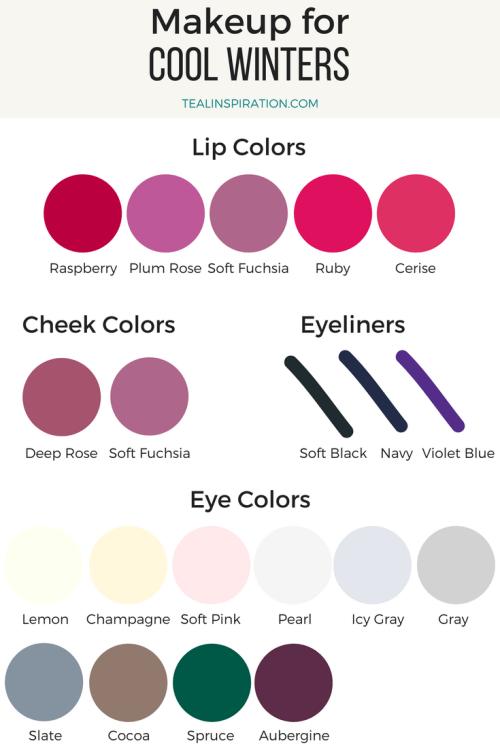Cool Winter Makeup Colors