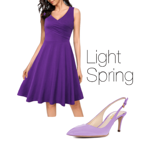 Light Spring How to Wear Purple