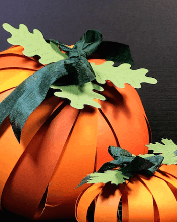 How-To: Making Paper Pumpkins with Cardstock Strips
