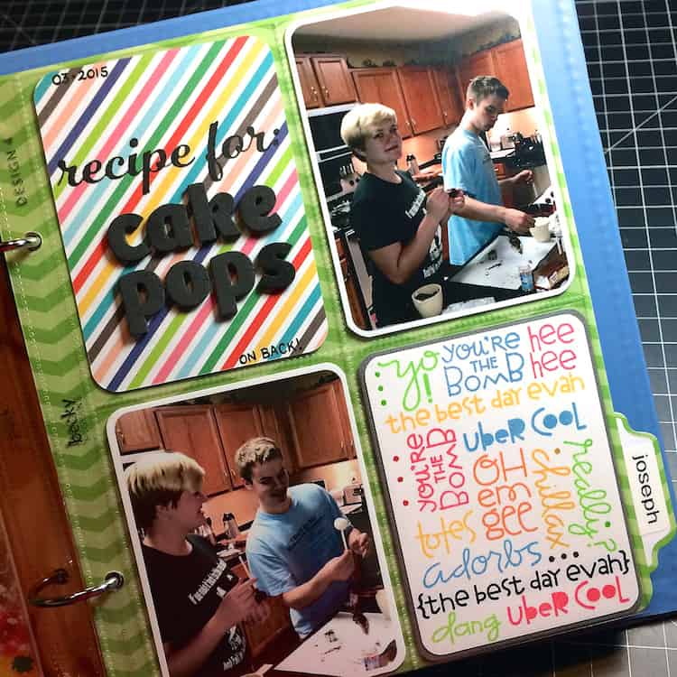"""6 X 8"""" Project Life Layout: Cake Pops (SPARKS)"""