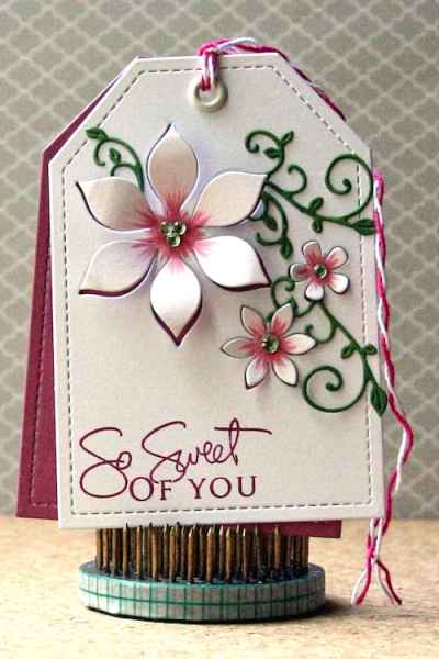 Inspiration: Clean and Simple Die Cut Floral Tag
